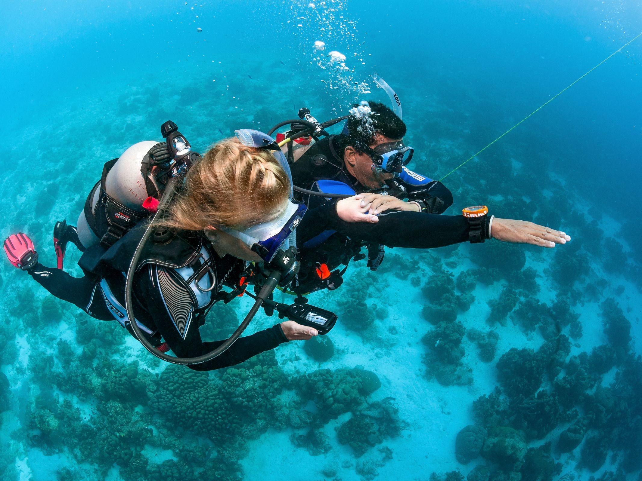 Onderwater navigatie oefening